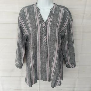Laundry by Shelli Segal linen blend top Size Small